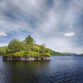 Loch Katrine and Factors isle — Stock Photo