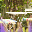 Stock Photo: Cozy garden seating area