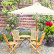 Garden seating area — Stock Photo