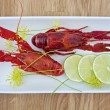 Stock Photo: Crayfish starter