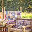 Rustic garden seating area. — Stock Photo #31165571