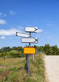 Countryside road signs — Stock Photo
