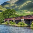 Loch Awe bridge — Stock Photo