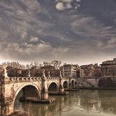 Saint Angelo bridge Rome — Stock Photo