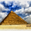 Stockfoto: Egyptipyramid