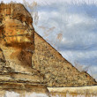 The Sphinx drawing — Stock Photo
