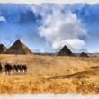 Stock Photo: Pyramids of Gizin Egyt
