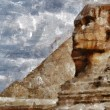 The Sphinx painting — Stock Photo