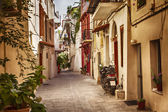 Chania charming old street — Stock Photo