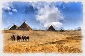Pyramids of Giza in Egyt — Stock Photo