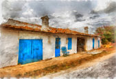 Greek farmhouse — Stock Photo
