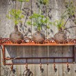 Metal garden shelf — Stock Photo #46491117