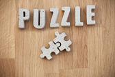 Concrete puzzle pieces — Stock Photo