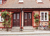 Cottage townhouses in Lund — Stock Photo