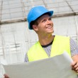 Smiling young architect — Stock Photo #5210952