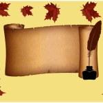 Autumn pergament — Stock Photo