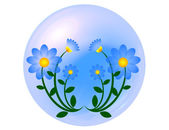 Blue flower ball — Foto Stock