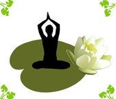 Yoga lotos yoga lotos — Stockfoto