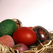 イースターの卵をバスケットの中身 — ストック写真