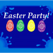 Easter party blue table — Stock Photo
