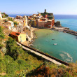 View on Vernazza in Cinque Terre - Stock Photo