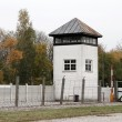 Watchtower in the Dachau Concentration camp memorial - Stock Photo