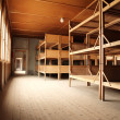 Dormitory in the Dachau Concentration camp memorial - Stock Photo