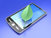 Ecological Smartphone — Stock Photo