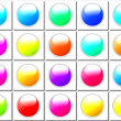 Stock Photo: Colorful buttons collection