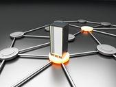 подключенного сервера — Стоковое фото
