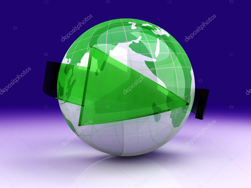 Symbol for global ecology and recycling. 3D rendered illustration. — Stock Photo #14265575