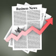 Growth in the Business News — Stock Photo