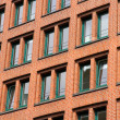 Facade in the Speicherstadt in Hamburg — Stock Photo