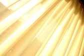 Illuminated Curtain — Stock Photo