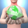 The world in your hands — Stock Photo