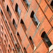 Facade in the Speicherstadt in Hamburg - Stock Photo