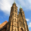 Cathedral St. Lorenz of Nuremberg - Stock Photo