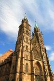 Cathedral st. lorenz nuremberg of — Stok fotoğraf