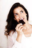 Eating Chocolate — Stock Photo