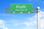 Highway Sign - Profit — Stock Photo