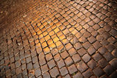 Ancient cobblestone Pavement — Stockfoto