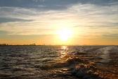 Sunset over the Rio de la Plata — Stock Photo