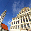 Townhall of Augsburg with St. Peter — Stock Photo #20997235