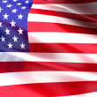 Stock Photo: flag of the usa