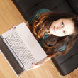 Young girl with a Laptop — Stock Photo #21142793