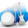 Music Cloud 	 — Stock Photo