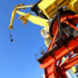 Stock Photo: Crane in Puerto Madero