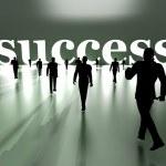 Walking towards Success — Stock Photo