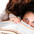 Hiding under a blanket — Stock Photo #22423999