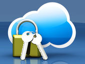 Secure cloud — Stock Photo